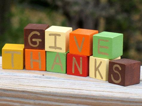 Give Thanks Blocks Photo